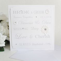 Personalised 'Wedding Words' Card *P