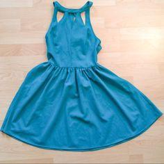 Kendall & Kylie Cut Out Emerald Skater Dress