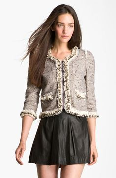 Rebecca Taylor Sequin Tweed Jacket available at Nordstrom