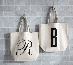 Personalized Alphabet Grocery Tote Bag | Pottery Barn