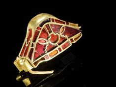 Realms Of Gold The Novel: The Staffordshire Hoard, Gold Pommel Caps                  Rare-sword-pommel