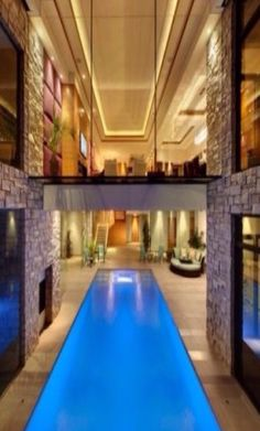 Swimming pool designs featuring new swimming pool ideas like glass wall swimming pools, infinity swimming pools, indoor pools and Mid Century Modern Pools. Luxury Swimming Pools, Luxury Pools, Dream Pools, Swimming Pool Designs, Outdoor Swimming Pool, Luxury Spa, Luxury Cars, Indoor Pools, Indoor Outdoor