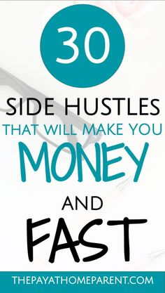 Make money on the side quickly with these easy side hustles. Work a few minutes in your spare time to rake in a little extra money. Side hustles allow you to earn extra income while working your full time job! - Earn Money at home Earn Money From Home, Earn Money Online, Make Money Blogging, Online Jobs, Way To Make Money, Money Saving Tips, Quick Money, Money Fast, Money Tips