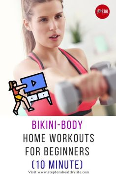 With all that's going on,it can be tough to make time to hit the gym but we have 3 great(10 minutes)full body fat burning at home workouts for a bikini body,no weights for specially create for women.Thankfully, you don't need to go to the gym to achieve fabulously toned body.Here are some of our favourite home workouts for women that will help you tone your arm muscles and lose arm fat without weights on your time.At home workouts for women,workouts for beginners,toned arms.