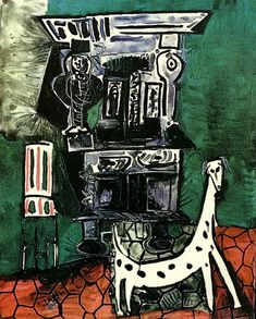 "Pablo Picasso - ""The buffet has Vauvenargues [Buffet Henry II with dog and chair]"", 1959"