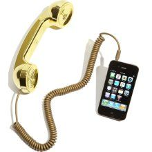 I used to have this in red... where did it go. NEW Native Union Pop Phone Handset for iPhone in Gold- Limited Edition