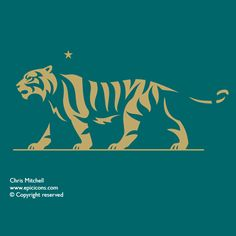 Brand illustrator Chris Mitchell of Epic Icons is recognised internationally for his craft skills in the creation of major illustrative brand and… Tiger Drawing, Tiger Art, Typography Inspiration, Graphic Design Inspiration, Tiger Images, Lion Head Tattoos, Branding Design, Logo Design, Egyptian Cats