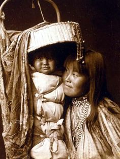 Edward Curtis -- Apache Girl With Her Papoose