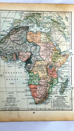 Check out this item in my Etsy shop https://www.etsy.com/listing/218746992/africa-vintage-map-antique-map-of-africa