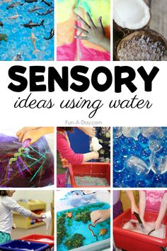 Need some sensory learning activities that are perfect for the heat of summer? A fun list of sensory trays, sensory tables, and sensory play ideas that use water. Summer Preschool Activities, Fairy Tale Activities, Early Learning Activities, Outdoor Activities For Kids, Preschool Lesson Plans, Sensory Activities, Christmas Activities, Kids Learning, Sensory Table