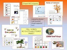 Chapel Hill Snippets: Fall Leaves Activity/Literacy Packet--Great for EC/SLP collaboration.