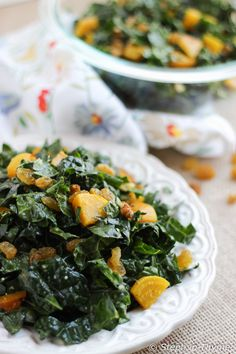 Shredded Dinosaur Kale Salad with Golden Beets, Golden Raisins, and a Garlic-Tahini-Lemon Dressing l Gluten-Free and Vegan l www.stephinthyme.com