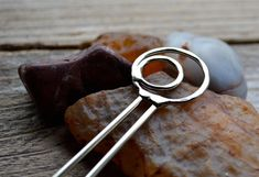 Solid Nickel Silver Hair Pin on Etsy, $16.00