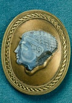 Cameo of a Ptolemaic queen (modern gold mount)  Greek, Hellenistic Period, 2nd or 1st century B.C.