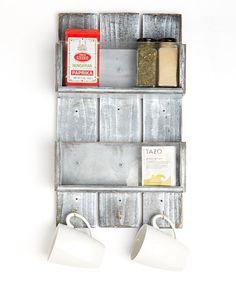 Another great find on #zulily! Weathered Gray Spice Rack #zulilyfinds