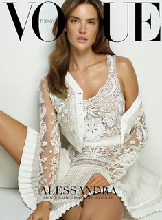 Alessandra Ambrosio | Dress by Roberto Cavalli | Photog: Cuneyt Akeroglu | Vogue (Turkey) March 2015