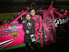 Nascar Driver Danica Patrick with a fan.