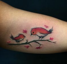Bird Tattoos by Felipe Mello