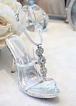 """Silver Shoes with 4"""" heels and .75"""" platform (Style 500-24) http://www.shopzoey.com/silver-wedding-shoes/"""