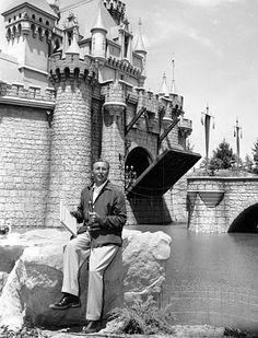 Walt Disney...one of the few times the drawbridge has been up to Fantasyland