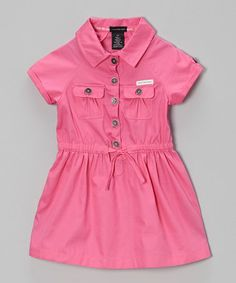 Look what I found on #zulily! Bright Pink Button-Up Dress - Infant, Toddler & Girls #zulilyfinds