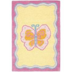 Handmade Children's Butterfly Yellow N. Z. Wool Rug (2' x 3')  as her bathroom rug?