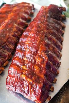 This 3 2 1 Ribs recipe is made on your electric pellet grill. Starts with a dry . - This 3 2 1 Ribs recipe is made on your electric pellet grill. Starts with a dry rub then the ribs a - Smoker Grill Recipes, Smoker Cooking, Grilling Recipes, Cooking Sauces, Traeger Recipes, Smoked Meat Recipes, Pork Rib Recipes, Venison Recipes, Smoked Pork Ribs