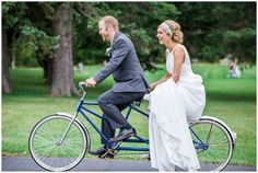 {Real Wedding} Christina   Ryan. This couple rode the same bike as the bride's parents 33 years earlier. (http://haleyfrostcreative.com)