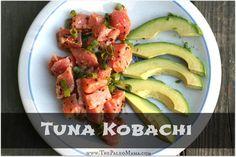 Sushi at Home: Tuna Kobachi www.thepaleomama.com