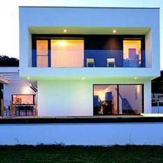 Einfamilienhaus Magdalenenweg II, 2007 Design: Klaus-Jürgen Bauer Architekten Style At Home, My Design, Spaces, Mansions, Architecture, House Styles, Home Decor, Architects, Detached House