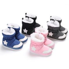 Raise Young Winter Plus Velvet Warm Baby Snow Boots Five-pointed star Toddler Girl Booties Newborn Infant Boy Shoes Baby Shoes For Sale, Best Baby Shoes, Baby Boy Shoes, Baby Boots, Crib Shoes, Boys Shoes, Baby In Snow, Baby Girl Winter, Toddler Snow Boots