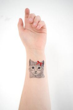 Temporary Tattoo  2 Cat Designs Him and by HilliaryCustomLiving, $7.00
