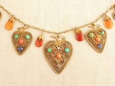 Antique Chinese Vermeil Sterling Dangling by MindiLynJewelry