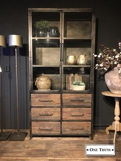 China Cabinet, Sweet Home, House Styles, Storage, Furniture, Loft, Home Decor, Decoration, Industrial Style Furniture