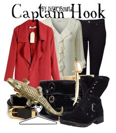 """""""Captain Hook"""" by leslieakay ❤ liked on Polyvore featuring Witchery, EAST, Friis & Company, French Connection, Bing Bang, Ash, Alkemie, Disney and disney"""
