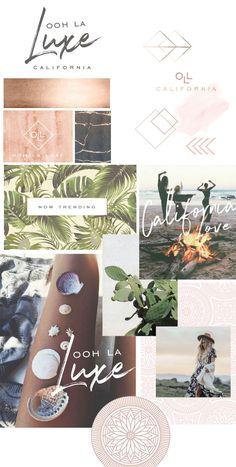 Beach boho design logo branding by Deluxe Modern Web Design, Graphic Design, Website Design Inspiration, Logo Inspiration, Moodboard Inspiration, Design Ideas, Beach Logo, Branding Design, Logo Branding