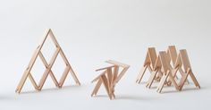 Tokyo-based architecture firm Kengo Kuma and Associates made its own, minimalist version of Lego bricks. Kengo Kuma and Associates