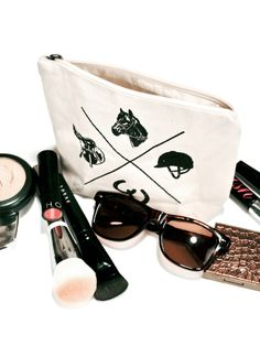 Vintage Makeup Bag Gym Essentials, Vintage Makeup, Black Print, Vintage Prints, Equestrian, Sunglasses Case, Leather, Bags, Shopping