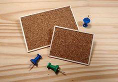 Cork Bulletin Board Dollhouse Scale - 1:12 Miniature - pinned by pin4etsy.com
