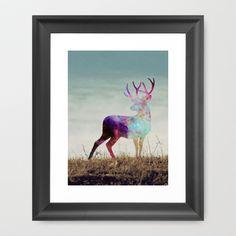 The spirit I Framed Art Print by Laure.B