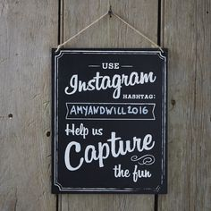 Instagram chalk board sign to hire from Fuschia.
