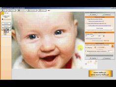 HaftiX - przetwarzanie zdjęć portretowych na wzór haftu krzyżykowego cz 2 - YouTube Program, Youtube, Youtubers, Youtube Movies