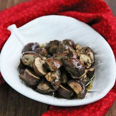 Roasted Mushrooms with Thyme.