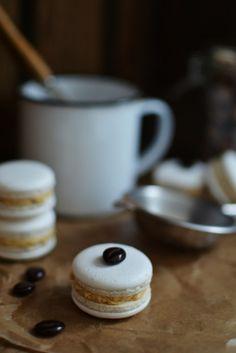Coffee and Vanilla Macarons