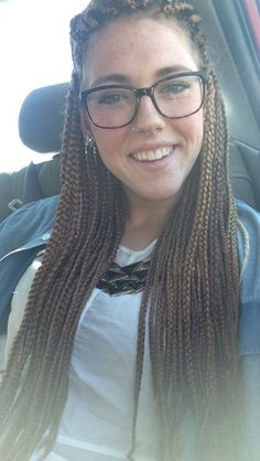 Box braids on a white girl. #braids #boxbraids #whitegirl