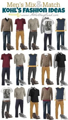 Have your guy looking good with these fashion mix and match ideas- Men's Mix & Match Fashion Ideas