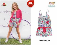 #Girls chic floral #overall from #Bóboli with 40% #discount!  Shop now at www.kidsandchic.com/girls-overall-boboli-vintage-picnic.html  #sale #rebajas #kidsandchic #kidsboutique #barcelona #castelldefels