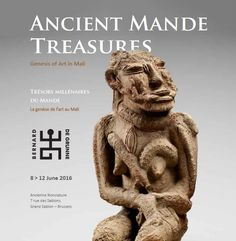 BRUNEAF 2016 partners with Bernard de Grunne. Together we curate a major exhibition of 27 exceptional objects from medieval Mali: 'Ancient Mande Treasures: Genesis of Art in Mali'.  Wednesday 8 June till Sunday 12 June. Location: L'ancienne Nonciature - Grand Sablon (Brussels, 7 rue des Sablons).