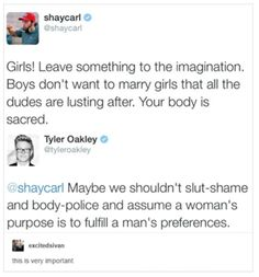 Tyler Oakly is so important. His words here are also v important.