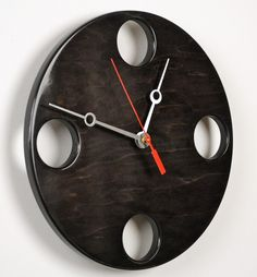 POP Clock in Black Medium size by whitevan on Etsy, $145.00